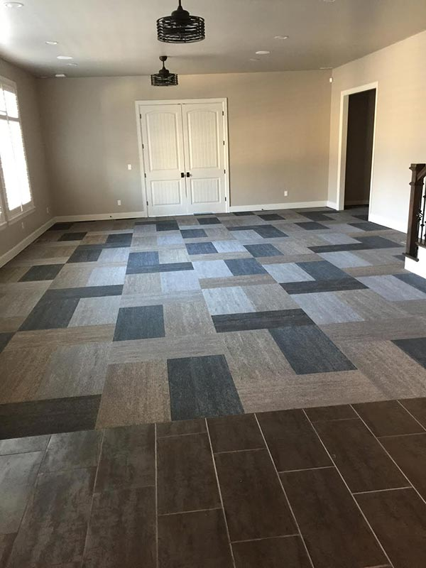 Completed Carpet Tile Flooring Project By Bert Henry