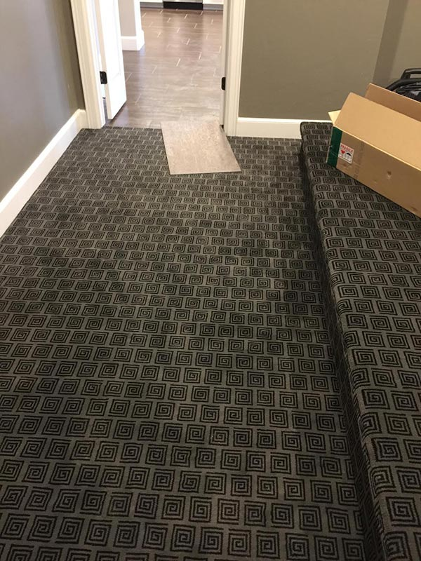 Completed Carpet Flooring Project By Bert Henry Tile