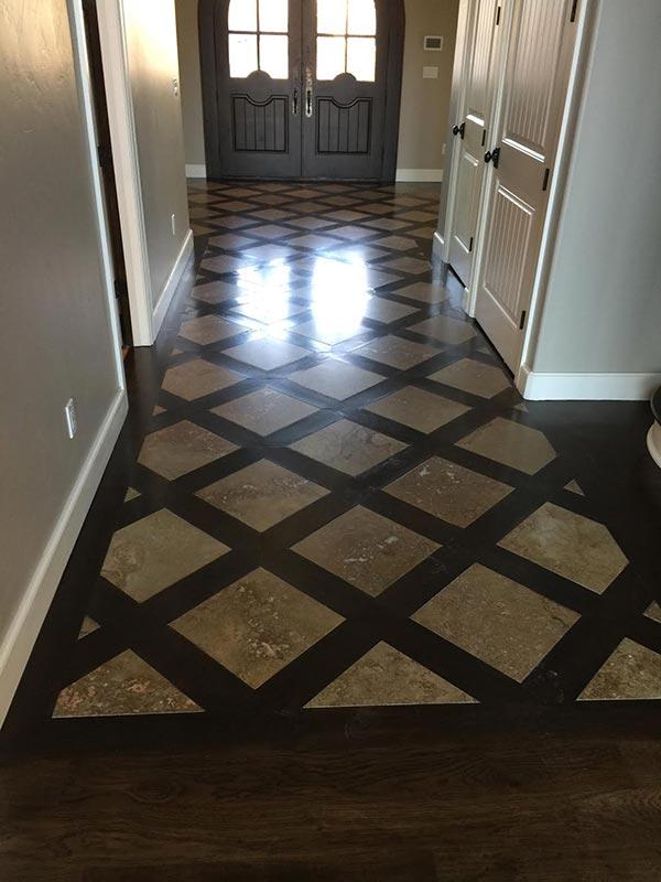 High Quality Travertine Installation By Bert Henry Carpet Tile In Tulsa