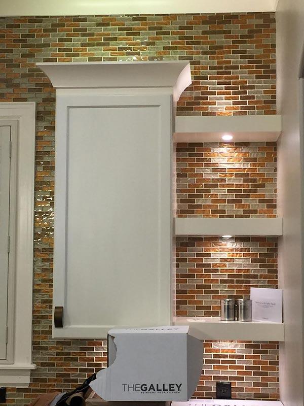 High Quality kitchen backsplash installed by Bert Henry Carpet & Tile in Tulsa