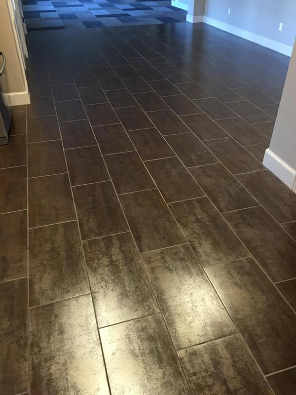 Elegant tile installation project completed by the professional installers at Bert Henry Carpet & Tile in Tulsa