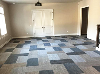 Completed project by Bert Henry Carpet & Tile